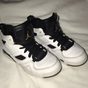 Jordan White, Black & Gold size 13